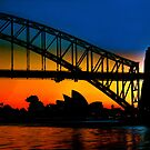 Sunrise, Sydney Harbour Bridge and Opera House by Andrew  MCKENZIE