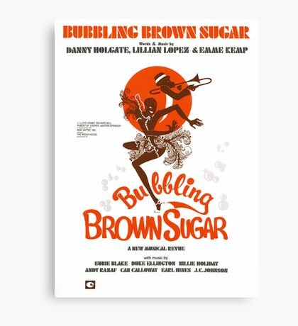 BUBBLING BROWN SUGAR (vintage illustration) Canvas Print