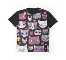 Feline Faces Graphic T-Shirt