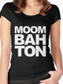 Moombahton Block Women's Fitted Scoop T-Shirt