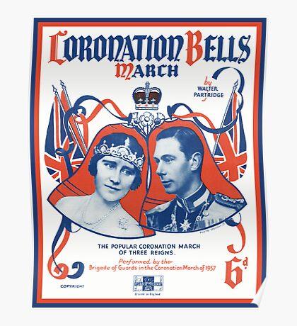 CORONATION BELLS (vintage illustration) Poster