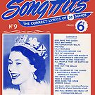 CORONATION SONG HITS (vintage illustration) by ART INSPIRED BY MUSIC