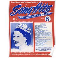 CORONATION SONG HITS (vintage illustration) Poster