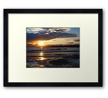 Salou Beach Sunset Framed Print