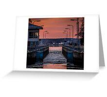Orange Canal Greeting Card