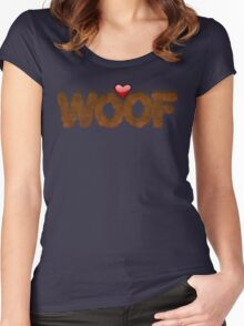 WOOF Women's Fitted Scoop T-Shirt