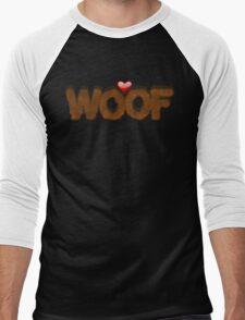 WOOF Men's Baseball ¾ T-Shirt