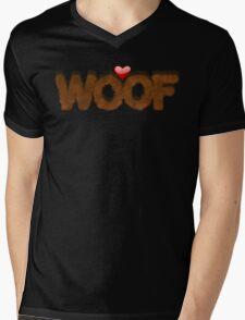 WOOF Mens V-Neck T-Shirt