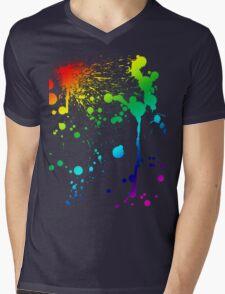 Pride Paint Mens V-Neck T-Shirt