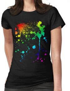 Pride Paint Womens Fitted T-Shirt