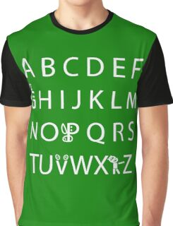 Canadian Alphabet Graphic T-Shirt