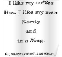 Nerd Coffee Poster