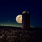 Moon Silo by EmilyJFineArt