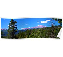 Pikes Peak from Waldo Canyon Panorama Poster
