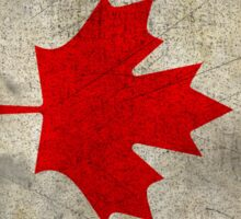 Grunge Canada Flag Sticker