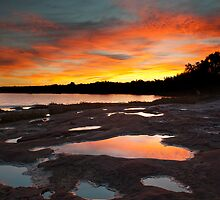 Reflection - Murchison River - Kalbarri by John Pitman