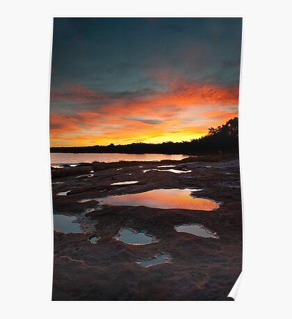 Reflection - Murchison River - Kalbarri Poster