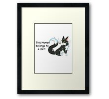 Cat Ownership (Tuxedo) Framed Print