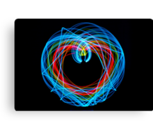 Double Pendulum with LEDs Canvas Print