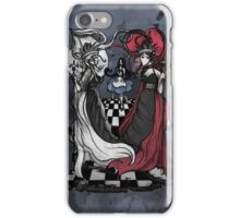 Alice and her Queens: The Checkered Board iPhone Case/Skin
