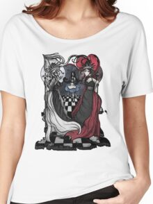 Alice and her Queens: The Checkered Board Women's Relaxed Fit T-Shirt