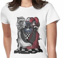Alice and her Queens: The Checkered Board Womens Fitted T-Shirt