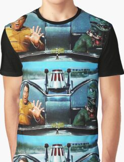 KIRK AND GORN BATMOBILE Oil Painting On Canvas Graphic T-Shirt