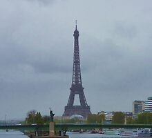 Paris in the Rain from Pont Mirabeau, Paris 2012 by cschurch