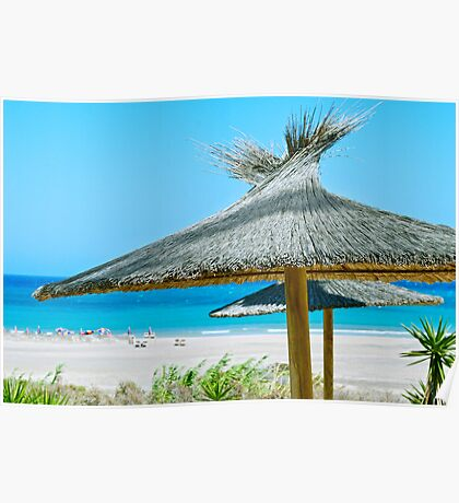 Beach umbrellas Poster
