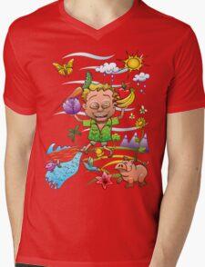 Growing Happy Kids Mens V-Neck T-Shirt