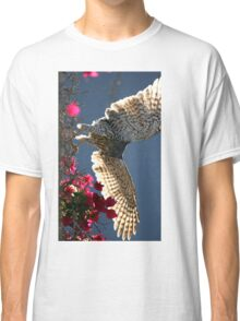 Cooper's Hawk Hunting In Bougainvillea Classic T-Shirt