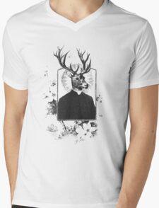 alpha and omega (for st. eustace) Mens V-Neck T-Shirt