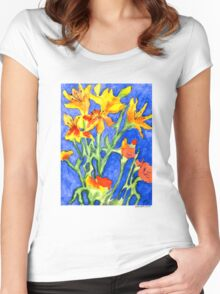 Yellow Lilies Women's Fitted Scoop T-Shirt
