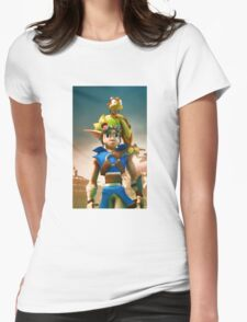 Jak and Daxter cover Womens Fitted T-Shirt
