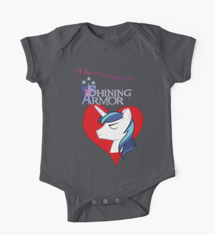 I have a crush on... Shining Armor - with text Kids Clothes