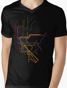 NYC Subway Lines Mens V-Neck T-Shirt
