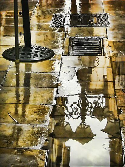 Puddle Reflection by Maria  Gonzalez