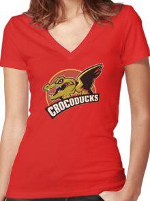 Crocoducks Women's Fitted V-Neck T-Shirt