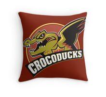 Crocoducks Throw Pillow