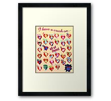 I have a crush on... all of them! - 3 Framed Print
