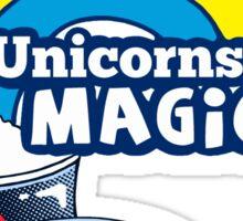 Magically Delicious   Funny Unicorn Shirt Sticker