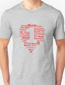 mother number 1 heart Unisex T-Shirt