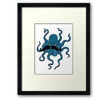 Octopus with a Mustache Framed Print