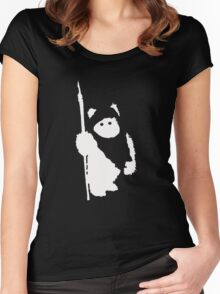 Ewok Silhouette (Black) Women's Fitted Scoop T-Shirt