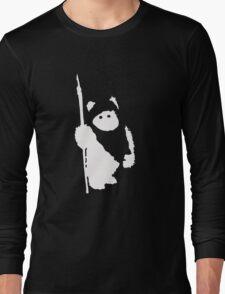Ewok Silhouette (Black) Long Sleeve T-Shirt