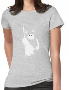 Ewok Silhouette (Black) Womens Fitted T-Shirt