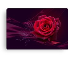 Magical Rose POSTCARD Canvas Print