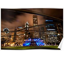 Chicago Skyline from Millennium Park Poster