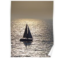 Sailing at the Pacific Ocean  Poster