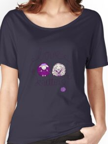 love knitting couple Women's Relaxed Fit T-Shirt
